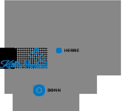 NRW Karte mit Bonn und Herne